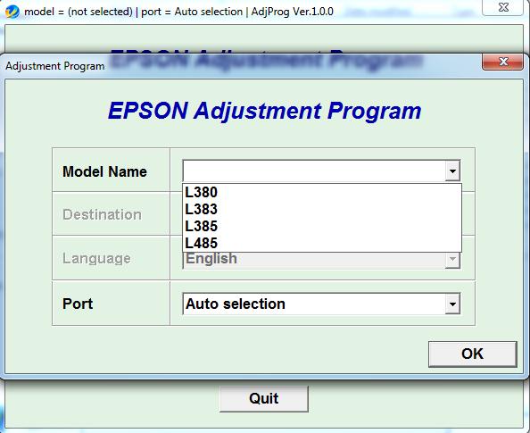 Epson L380 L383 L385 L485 Adjustment Program Reset Your