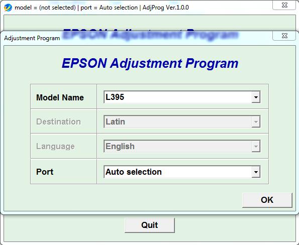Reset da Epson l1300
